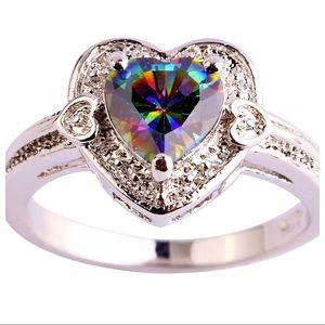 Jewelry - Rainbow Topaz Ring!  🌈💅💍